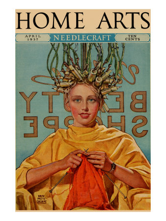 woman-in-curlers-knits